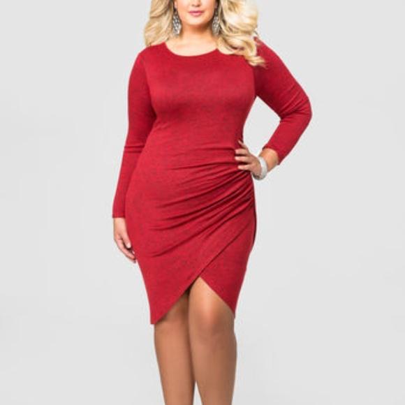 e1a1bdb9af1 Ashley Stewart Dresses   Skirts - TULIP HEM SWEATER DRESS